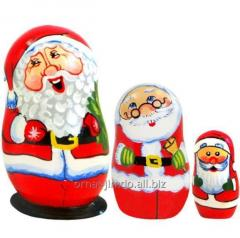 Christmas M-10 nested dolls