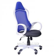 Кресло Nitro белый, сиденье Неаполь N-20/спинка Сетка синяя