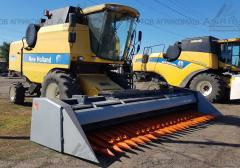 Headers on sunflower ZHNS 9.1 m at Lexion, ...