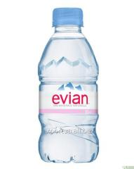 Mineral water EVIAN (EVIAN) 0.33 liters, without
