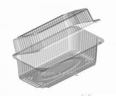 Plastic disposable food container for the food