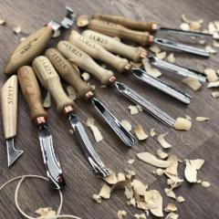 Набор стамесок для резьбы по дереву, 10 штук