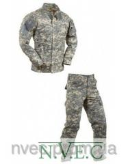 Costumes uniform from camouflage fabrics
