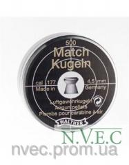 Пульки 4.5мм Walter Diabolo Match 500шт. (4.1951)