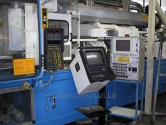 Injection moulding press