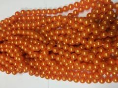 Бусы 14мм B-10 05 (оранжевый)