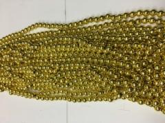 Бусы 8мм B-07 07 (золото)
