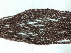 Бусы 4мм B-04 12 (коричневый)