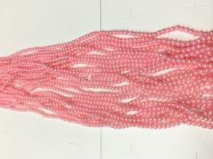 Бусы 4мм B-04 06 (светло розовый)