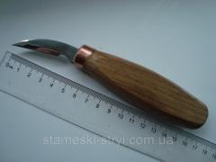 Нож для геометрической резьбы острый, 35мм, стамеска, код ГО35-15