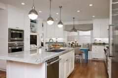 Столешница акрил в декоре серый мрамор на кухонный