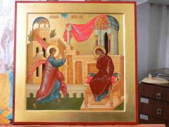Icon Annunciation, icon Virgin's