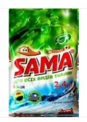 САМА Порошок стиральный без фосфатов автомат 2,4 кг для цветных вещей