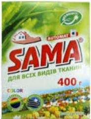 SAMA powder detergent without phosphates for hand