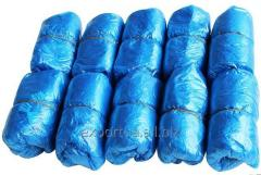 Shoe covers PE blue (16smh40 cm) (50 pairs).