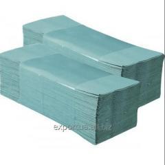 Полотенца бумажные ZZ-сложения зеленые 180 л. (25 пак / ящ)