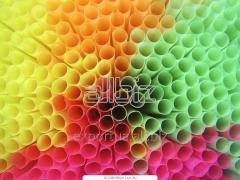 Трубочки Гофра длинные цветные 27 см (100шт)