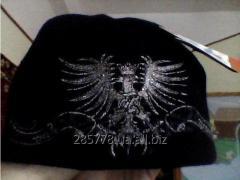 Чорноя  на флисе  зимняя  мужская шапка  42гр