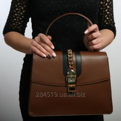 Rigid modern formoustoychivy brown Structured bag
