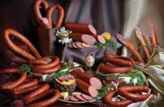Колбасы сырокопченые.