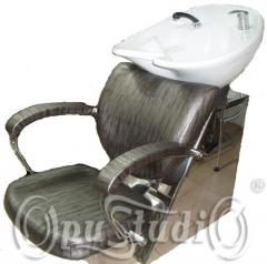 Sinks with the hairdresser's chair, Lviv, the