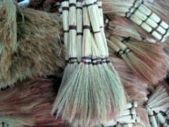 To buy brooms of a sorghum, Khmelnytskyi, Ukraine