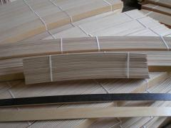 Lattices for a bed - levels (lamel) for beds glued