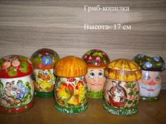 Mushroom moneybox
