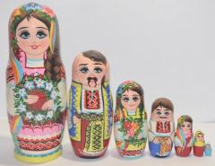 The Ukrainian painted nested doll from 7 pieces small 701