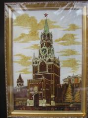 Pictures from amber the View of Moscow Spasskaya