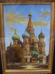 Pictures from amber the View of Moscow Vasily