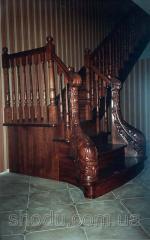 Лестницы из дерева, изготовление лестниц, сходи з