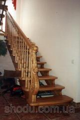 Лестницы из дерева, изготовление лестниц