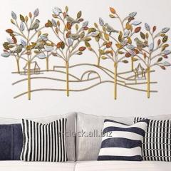 Кованное панно Золотой сад 83х149 см, P6-2