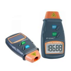 Digital laser tachometer with a range of