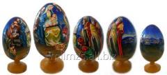 El huevo Cristmas Religious de madera - 10