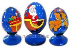 Яйцо деревянное Santa and Snowman - 4