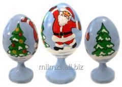 Яйцо деревянное Santa and Snowman - 5