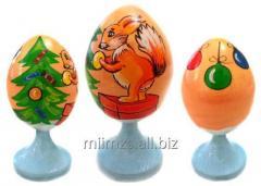 Яйцо деревянное Santa and Snowman - 6