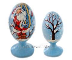 El huevo Santa de madera and Snowman - 10