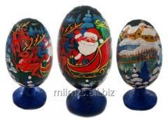 El huevo Santa de madera and Snowman - 13