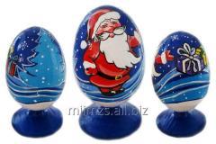 El huevo Santa de madera and Snowman - 14