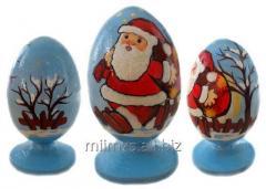 El huevo Santa de madera and Snowman - 15