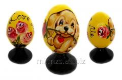 El huevo Happy Birthday R de madera - 44