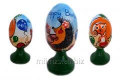 El huevo Happy Birthday R de madera - 46