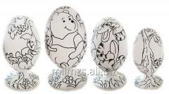 El huevo DIY R de madera - 110