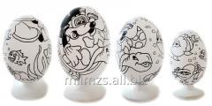 El huevo DIY R de madera - 112