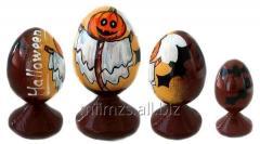 El huevo Halloween R de madera - 80