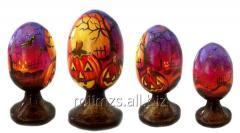 El huevo Halloween R de madera - 81