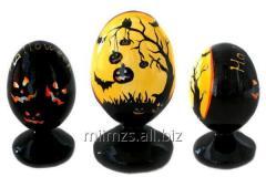 El huevo Halloween R de madera - 82